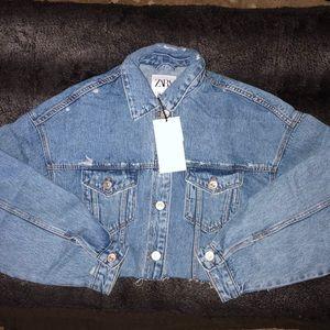 Zara Jackets & Coats - Cropped Denim Jacket
